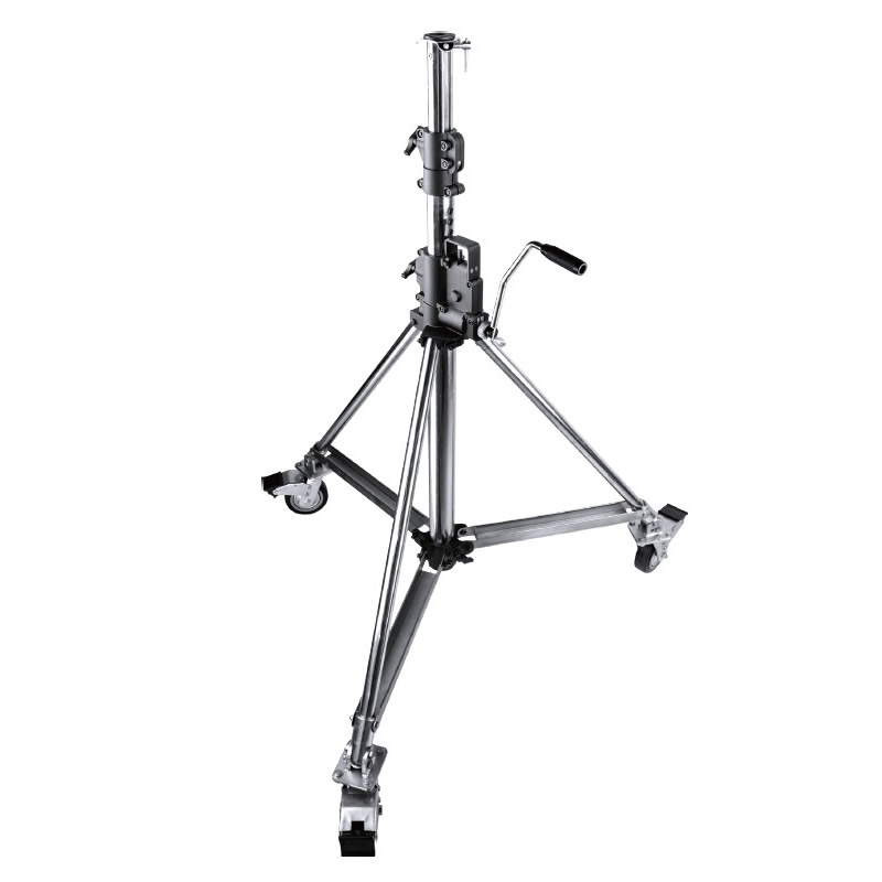 485 / Heavy Duty Wind Up Low Base stand w/ Braked Caster